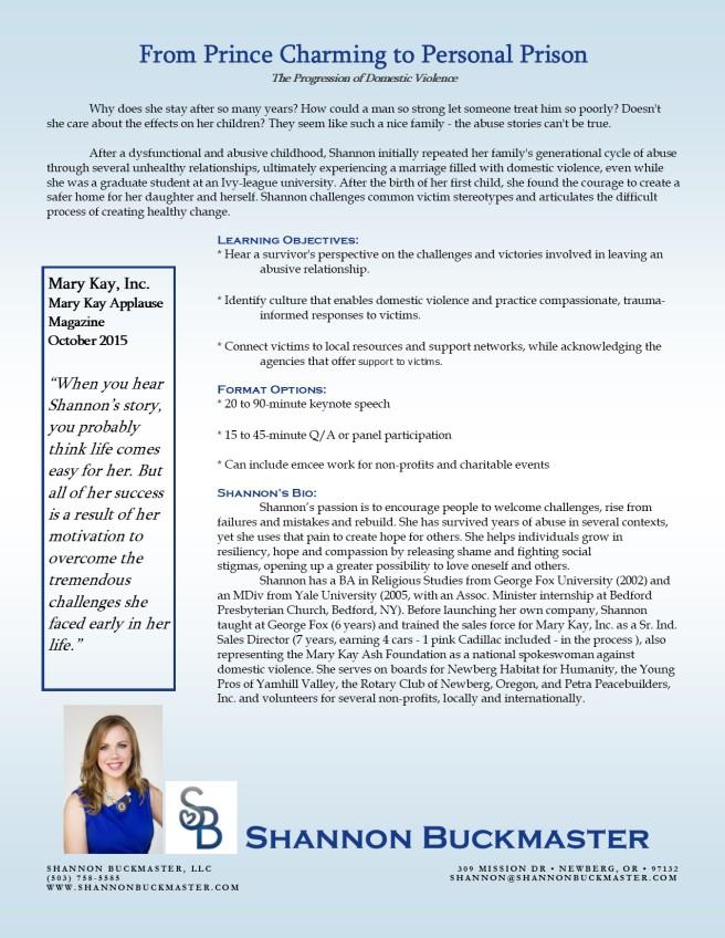 Domestic Violence One Sheet
