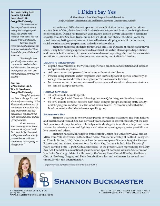 Title IX One Sheet